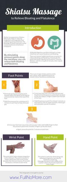 Shiatsu Massage to relieve flatulence & bloating