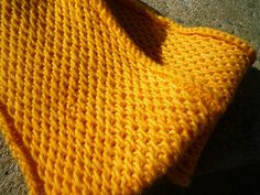 Honey Cowl by Antonia Shankland¬ malabrigo Worsted in Cadmium