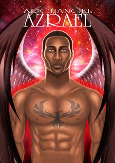 Archangel Azrael from the forthcoming Angel Prayers Oracle Cards deck by Kyle Gray Archangel Raguel, Archangel Azrael, Kyle Gray, Fortune Telling Cards, Black Angels, Male Angels, I Believe In Angels, Angel Prayers, Ascended Masters