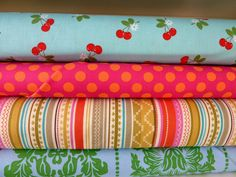 cherry fabric bundle by bumbletees on Etsy, $20.00