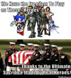 Memorial Day Respect.  Thank you.