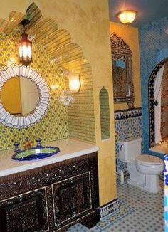 Moroccan Bathroom   Colorful, Textural, Bold Yet Still Warm And Inviting.