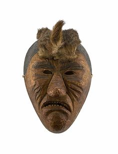 Indian Masks | Cherokee Carved Wooden Mask, - Cowan's Auctions