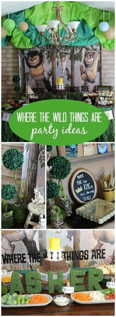 """How fun is this """"Where the Wild Things Are"""" first birthday party! See more party ideas at Catchmyparty.com!"""