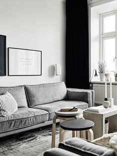 Living Room : scandinavian apartment with neutral shades Living Room Interior, Home Living Room, Living Room Decor, Living Spaces, Living Room Scandinavian, Scandinavian Apartment, Scandinavian Style, Scandinavian Interiors, Living Room Inspiration