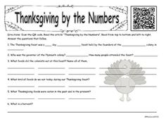 I am thankful to all of my followers and to TpT for having this great resource available to teachers! This is a freebie for you. This product is a QR code that students must scan and it takes them to an article about Thanksgiving. Students read the article and answer the questions.