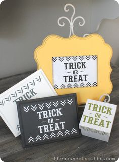 The House of Smiths - Home DIY Blog - Interior Decorating Blog - Decorating on a Budget Blog#more#more; http://www.thehouseofsmiths.com/2012/09/trick-or-treat-halloween-decal-deal.html#more