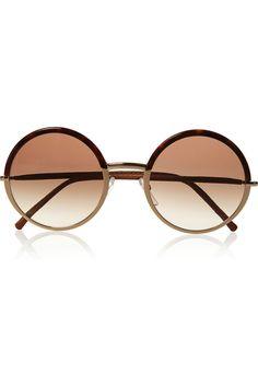 Cutler and Gross | Round-frame metal and acetate sunglasses | NET-A-PORTER.COM