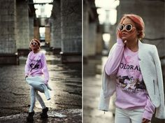 Angelica Blick - vintage sweater in light pink