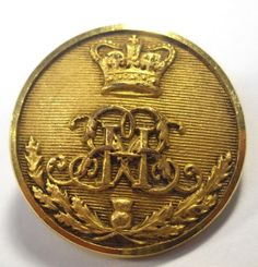 Original Victorian Gilt Button. 42nd Royal Highlanders