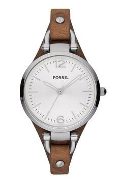 Fossil 'Georgia' Leather Strap Watch, 32mm   Nordstrom