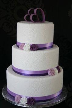 Purple Hearts Cake heart