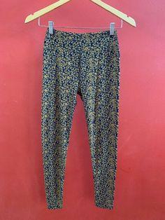 3cab051efad289 Lularoe leggings navy and khaki tan preowned scrolls vines one size  #fashion #clothing #