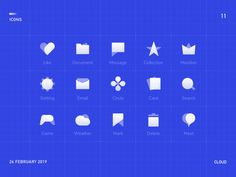 Cloud Icons designed by Sam for Orizon: UI/UX Design Agency. Connect with them on Dribbble; Ui Ux Design, Design Agency, Icon Design, Dashboard Design, Flat Design, Graphic Design, Creation Site, Cloud Icon, Site Internet