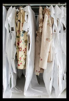 Storage in the Clothworkers' centre for textile and fashion study and conservation - Victoria and Albert museum Museum Studies, The V&a, Costume Shop, Victoria And Albert Museum, Somerset, Flower Power, Alexander Mcqueen, Christian Louboutin, Vintage Outfits