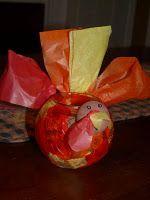 Turkey centerpiece!  Gobble Gobble!!!