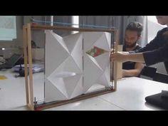 tranSTUDIO-Adaptive Thought Design and Fabrication- Texas A&M - Instructor: Negar Kalantar Architecture Pliage, Architecture Origami, Kinetic Architecture, Facade Architecture, Parametrisches Design, Gate Design, House Design, Interior Design, Folding Furniture
