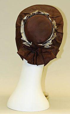 "1855-65 ... Bonnet ... silk ... Height: 12"" ... American ... at The Metropolitan Museum of Art ... photo 3"