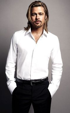 Brad Pitt. Long hair, short hair, bad ass and romantic. Whew!