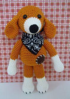 Amigurumi Dog - FREE Crochet Pattern / Tutorial needs translation Crochet Tools, Form Crochet, Cute Crochet, Crochet Crafts, Crochet For Kids, Crochet Baby, Crochet Projects, Crochet Dog Patterns, Amigurumi Patterns