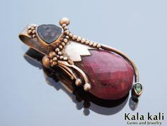 faceted Red Ruby and Watermelon Tourmaline and faceted by KalaKali, €160.00