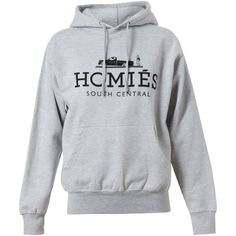 BRIAN LICHTENBERG Unisex 'Homies' Cotton Hooded Sweatshirt ($190) ❤ liked on Polyvore