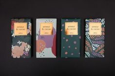 Flower Inspired Chocolate Packaging for Amour & Cacao - web design -