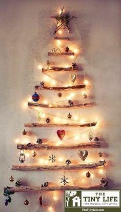 Homemade wall Xmas tree