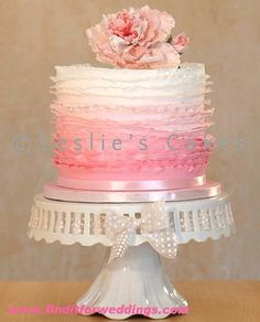 Peony Ruffle Cake  #wedding www.finditforweddings.com
