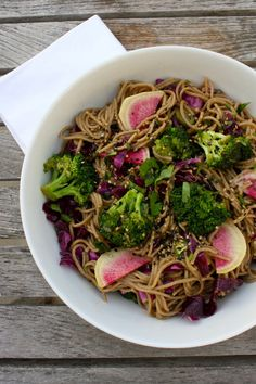 Gingered Soba Noodles with Watermelon Radish,... | Vegenista