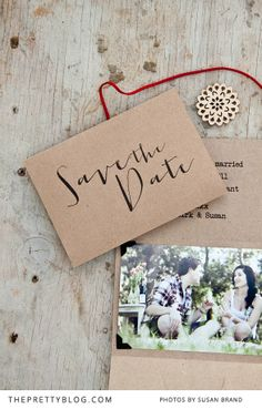 Download DIY Save the Date – Free Printable This is a super cute, easy to assemble and cost-effective save the date for all you soon-to-be-brides out there.