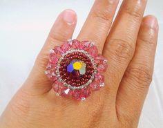 Crystal Flower Ring Tutorial