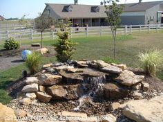 """waterfall with no """"pond"""" ! !  dog friendly???"""