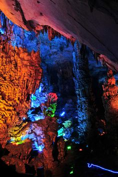 Reed Flute Cave, Guilin, Guangxi, China by ohmytrip, via Flickr