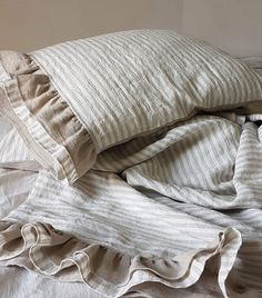 Luxury Bedding Sets On Sale Linen Duvet, Linen Pillows, Bed Pillows, Bed Linens, Decor Pillows, Sewing Pillows, Ruffle Pillow, Pillow Shams, Pillow Covers
