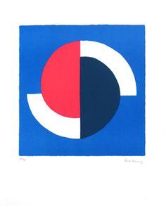 ¤ Delaunay Sonia : Galerie Bing 1964. Lithographie originale, affiche avant la lettre pour l'exposition de l'artiste à la Galerie Bing (Paris), signée au crayon par l'artiste.