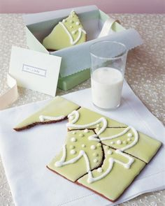 """Cookie Puzzle  Who's game for this challenging treat? Cut gingerbread while it's warm; after it cools, decorate with royal icing. Wrap pieces with a note: """"Don't cheat: Solve the puzzle before you eat!""""  How to Make the Cookie Puzzle"""