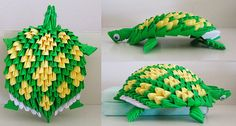 3d Origami Turtle by OrigamiLandDeco on Etsy, $8.00