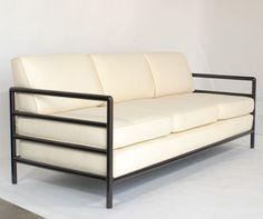 Clean Lined Modernist Sofa designed by T.H. Robsjohn Gibbings