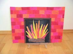 Thema Feuer im Kunstunterricht der Grundschule (Lehrplan Bayern, 4. Klasse)