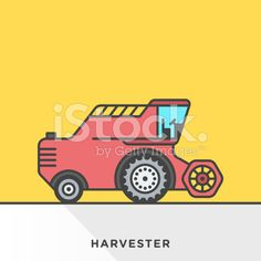 Harvester Machine Icon royalty-free stock vector art