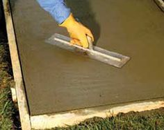 building and home improvement -how to lay a concrete slab Diy Concrete Slab, How To Lay Concrete, Laying Concrete, Cement, Build Your Own Shed, Free Shed Plans, Diy Shed, Building A Shed, Outdoor Projects