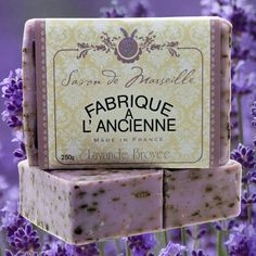 https://www.vitexnatura.com Our collection of Marseille soap flavors. 100% biologic Lavender with lavender blossem.