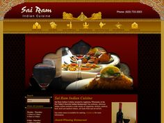 B2 Web Studios' Joomla website design for Sai Ram Indian Cuisine in Appleton, Wisconsin - http://sairamcuisine.com