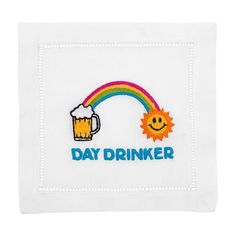 Day Drinker Cocktail Napkins Set of 4 in Gift Box - August Morgan - $35.99 - domino.com