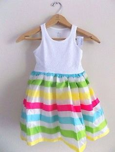 ♥ 9.99. More @salesfortoday ALSO CHECK OUT www.stores.ebay.com/jenscreationstx   The Childrens Place Girls Tutu Dress- size 4 Multi-color Stripes