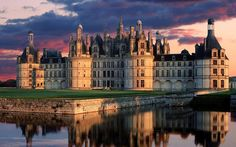 Chambord, France- actually have been here- but would love to go again-I was only 12 so some of the beauty was lost on my age