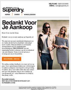 Superdry - klanttevredenheidsonderzoek na een aankoop. Online Marketing, Social Media, Internet Marketing, Social Networks, Social Media Tips