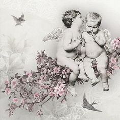 THREE (3) Angels, Luncheon Napkins for Decoupage and Paper Crafts