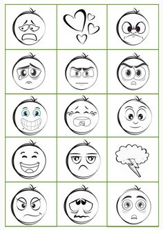 Talk to children about feelings - with this freebie, a memory of emotions, that's easy and almos Gratis Download, Curriculum Mapping, Kindergarten Lesson Plans, Sorting, Worksheets, Preschool, Memories, How To Plan, Feelings